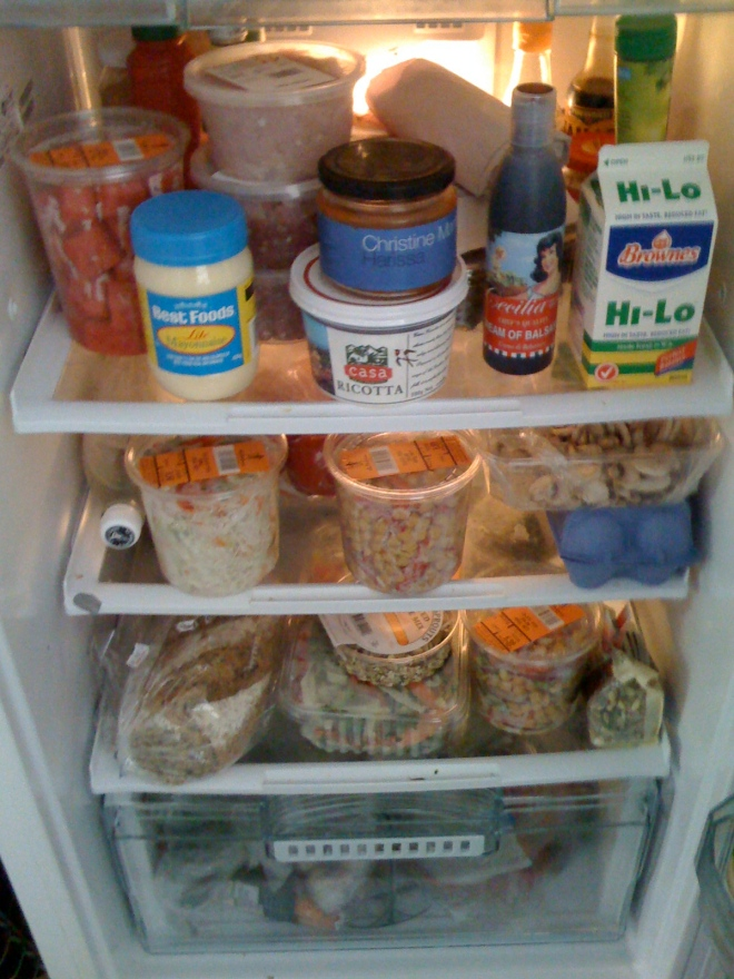 week two - contents of my fridge