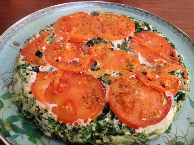 Tomato Egg White Omelette